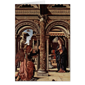 Annunciation Altar By Francesco Del Cossa Card