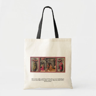 Annunciation Altar Inside The Left Wing Down Tote Bags