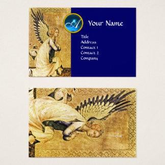 ANNUNCIATION ANGEL Blue Sapphire Gem Monogram