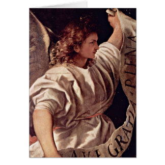 Annunciation Angel By Titian Card