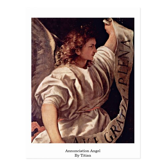 Annunciation Angel By Titian Postcard
