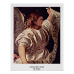 Annunciation Angel By Titian Print