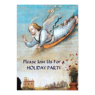 ANNUNCIATION ANGEL CHRISTMAS PARTY 13 CM X 18 CM INVITATION CARD