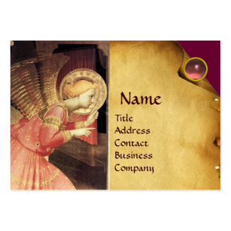 ANNUNCIATION ANGEL IIN GOLD AND PINK BUSINESS CARD TEMPLATES