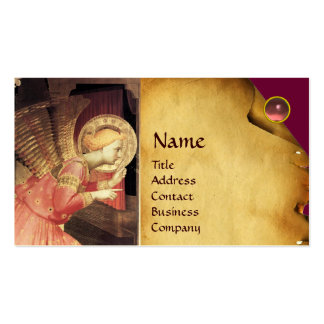 ANNUNCIATION ANGEL IIN GOLD AND PINK BUSINESS CARD TEMPLATE