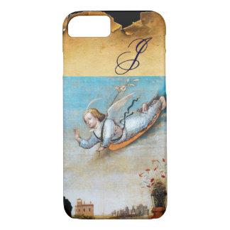 ANNUNCIATION ANGEL  MONOGRAM ,Brown Parchment iPhone 8/7 Case