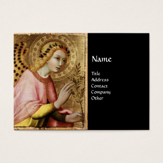 ANNUNCIATION ANGEL MONOGRAM, Red Ruby Business Card