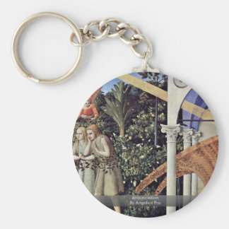 Annunciation By Angelico Fra Keychain