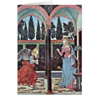 Annunciation By Baldovinetti Alesso Greeting Card