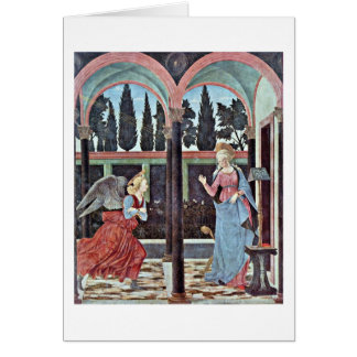 Annunciation By Baldovinetti Alesso Greeting Card