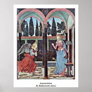 Annunciation By Baldovinetti Alesso Poster