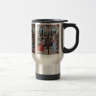 Annunciation By Baldovinetti Alesso Stainless Steel Travel Mug