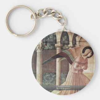 Annunciation  By Fra Angelico Key Chains