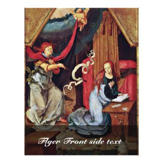 Annunciation By Leyden Lucas Van (Best Quality) Flyer Design