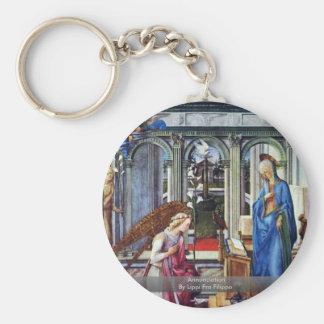 Annunciation By Lippi Fra Filippo Key Chains