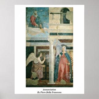 Annunciation By Piero Della Francesca Poster