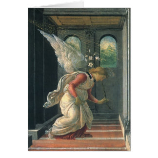 Annunciation by Sandro Botticelli Renaissance Art Card