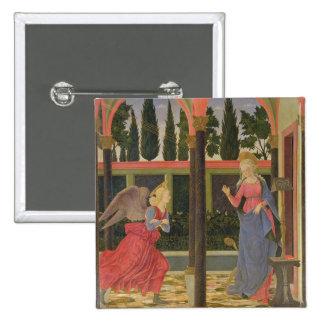 Annunciation, c.1457 (tempera on panel) 15 cm square badge