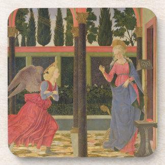 Annunciation, c.1457 (tempera on panel) beverage coasters