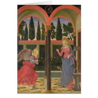 Annunciation, c.1457 (tempera on panel) greeting card