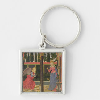 Annunciation, c.1457 (tempera on panel) Silver-Colored square key ring