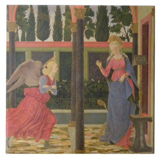 Annunciation, c.1457 (tempera on panel) large square tile