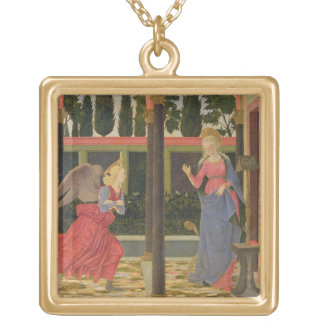 Annunciation, c.1457 (tempera on panel) square pendant necklace