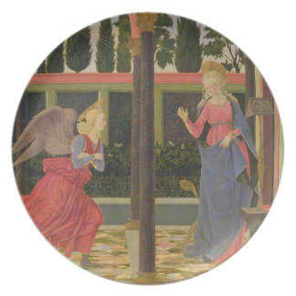 Annunciation, c.1457 (tempera on panel) plate