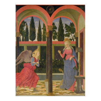 Annunciation, c.1457 (tempera on panel) postcard