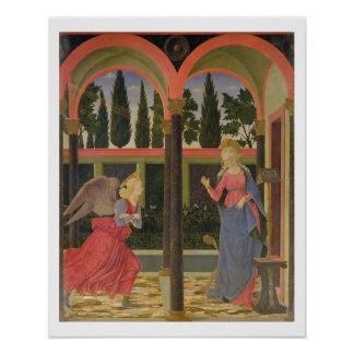 Annunciation, c.1457 (tempera on panel) poster