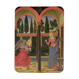 Annunciation, c.1457 (tempera on panel) rectangular photo magnet