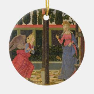 Annunciation, c.1457 (tempera on panel) round ceramic decoration