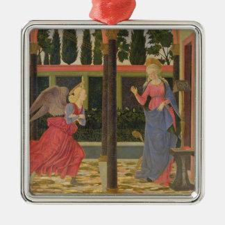 Annunciation, c.1457 (tempera on panel) Silver-Colored square decoration