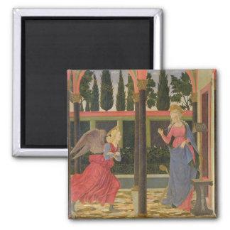 Annunciation, c.1457 (tempera on panel) square magnet