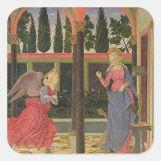 Annunciation, c.1457 (tempera on panel) square sticker