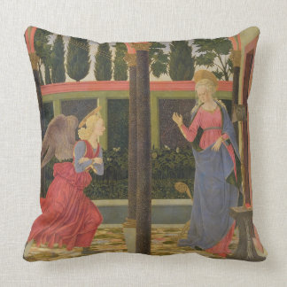 Annunciation, c.1457 (tempera on panel) throw cushion