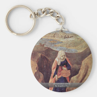 Annunciation Detail By Angelico Fra Key Chain