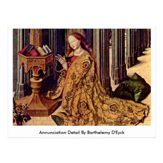 Annunciation Detail By Barthelemy D Eyck Postcards