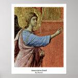 Annunciation Detail By Duccio Print
