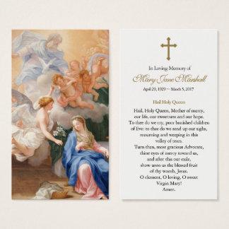 Annunciation Funeral Sympathy Prayer Card