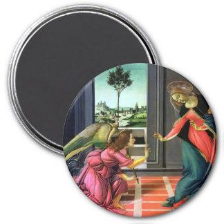 Annunciation 7.5 Cm Round Magnet