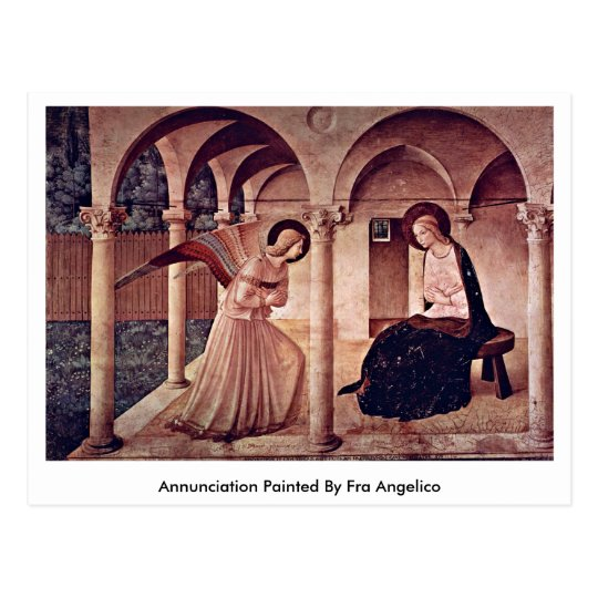 Annunciation Painted By Fra Angelico Postcard