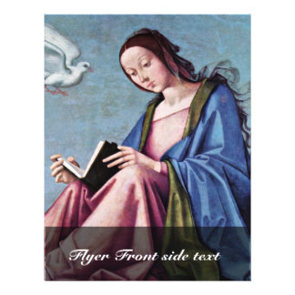 Annunciation (Reading Mary) By Lorenzo Costa Full Color Flyer