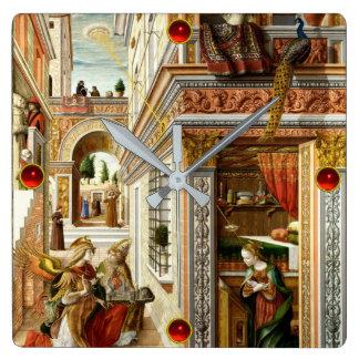 Annunciation ,Saint Emidius and an UFO Square Wall Clock