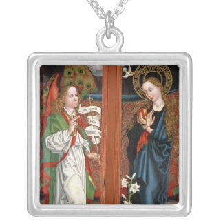 Annunciation Silver Plated Necklace