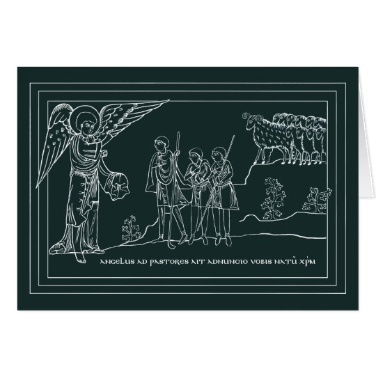 Annunciation to the Shepherds Christmas Card
