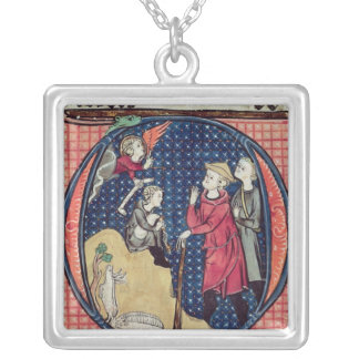 Annunciation to the Shepherds Silver Plated Necklace