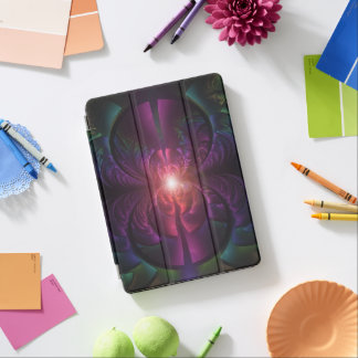 Anodized Eyes and Fractal Oxide Peacock Feathers iPad Pro Cover