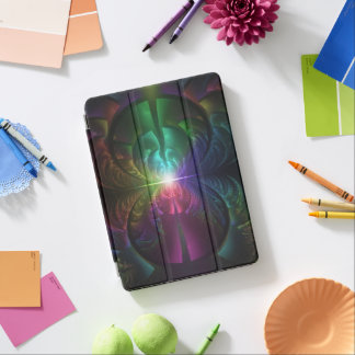 Anodized Rainbow Eyes and Metallic Fractal Flares iPad Pro Cover