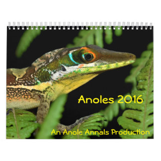 Anoles 2016 - An Anole Annals Production Calendars